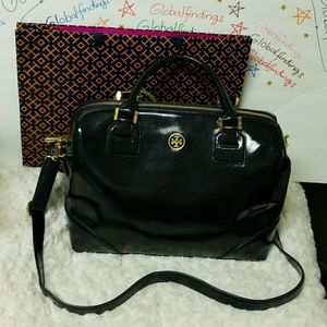TORY BURCH PATENT LEATHER LARGE CROSSBODY